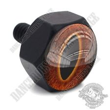 Vivid Black Billet Hex Air Cleaner Cover Bolt Twin Cam Touring - FLAME DEMON EVE