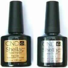 CND SHELLAC UV Gel Nail Polish Base Coat Top Coat