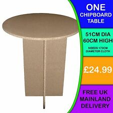 ONE New Circular Round Chipboard Display Bedside Bedroom Hall Lounge Tables