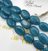 "13x18mm Natural Brazilian Aquamarine Oval Gemstone Loose Beads 15""AAA"