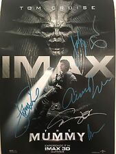 THE MUMMY CAST SIGNED 13X20 POSTER! TOM CRUISE ANNABELLE WALLIS AUTOGRAPH!