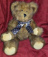 "Bearington Collection Bears 11"" Brown With  Ribbon"