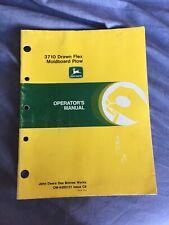 John Deere 3710 Drawn Flex Moldboard Plow Operators manual