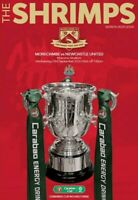 Morecambe v Newcastle United CARABAO CUP OFFICIAL PROGRAMME BUY NOW