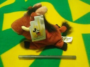 The Lion King Pumbaa bean bag plush toy from Walt Disney World New with tags