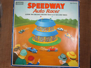 2001 SCHYLLING Collector Series SPEEDWAY Auto Racer Wind Up Track  W/ 5 Cars/Key