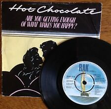 """Hot Chocolate Are You Getting Enough of What Makes You Happy 7"""" 45 rpm Record"""