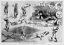 ANTIQUE BASEBALL, NEW YORK VS BOSTON, EWING, KEEFE WARD