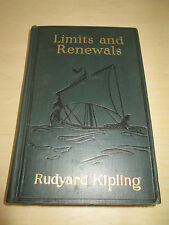 "1932 FIRST U.S. EDITION ""LIMITS AND RENEWALS"" BY R. KIPLING. DOUBLEDAY & DORAN."