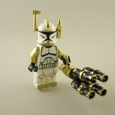 Lego Star Wars Clone Trooper Commander Arc Gold Gatling Gun mini figure