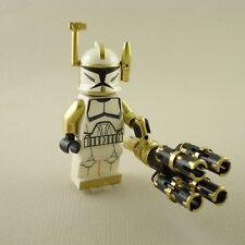Lego Star Wars Clone Trooper Commander Arc Gold Gatling Gun mini figure