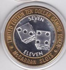 1994 McCarran Slots (LF) Dice Seven Eleven (LF) CT .999 Fine Silver $10 Token