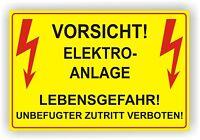 Elektro / Warnschild / Hinweis Schild Kabel / Hochspannung / Alu-Verbund 3mm