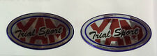Yamaha TY 250, TY Pinkie etc YAM TRIAL SPORT  2 No. Chrome Oval Decals