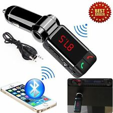 inalámbrico kit de Bluetooth Para Coche Transmisor FM MP3 USB LCD Manos Libres