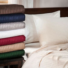 1000 TC Egyptian Cotton Deep Pocket British Bedding Items Cal King Stripe Color