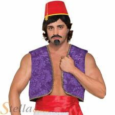 Adult Mens Genie Waistcoat Vest Aladdin Bollywood Fancy Dress Costume Accessory