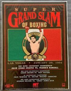 Julio Cesar Chavez Vs  Frankie Randall, Trinidad Vs Camacho Boxing Fight Poster