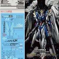 Decal Water Paste for HIRM 1/100 Wing Zero XXXG-00W0 Gundam Decorative Stickers