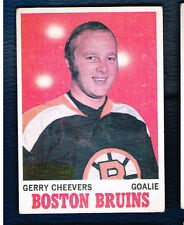 1970 71 Topps Hockey card #1 Gerry Cheevers Boston Bruins