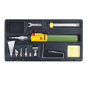 Proxxon Adjustable Butane Gas Portasol Style Piezo Microflame Soldering Iron Set