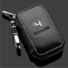 NEW For Honda Car Key Chain Leather Coin Holder Zipper Case Remote Wallet Bag