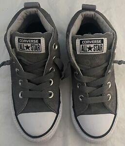 Boys CONVERSE Gray Shoes Size 13 FREE SHIPPING