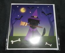 NEW HAPPY HALLOWEEN DOGS LIKE CANDY TOO GLITTER POP-UP 3-D GREETING CARD
