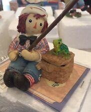 Simon & Schuster Enesco Raggedy Ann Fishing . Condition Is Used With Box