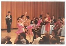 Vintage 80s PHOTO Men & Women Ballroom Dancers Performing at Contest