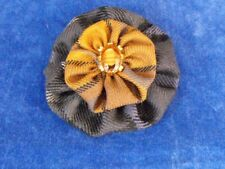 Hand Made Tartan Brooch with Vintage Stone Embellishment by Tartan Bling