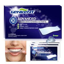 New 28 Pcs Glamorous White Whitestrips Teeth Whitening Strips Dental Whitener