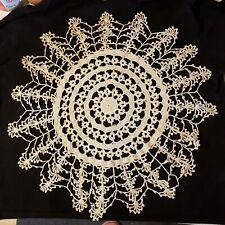 Vintage hand crochet cotton Doiy Centerpiece  Ellcellent pre-owned condition