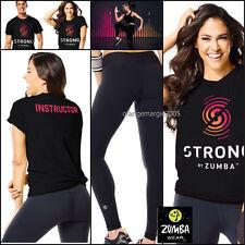 ZUMBA 2pc.Set!! STRONG INSTRUCTOR Tee Shirt + Pefect Long Leggings --ElliteZWear