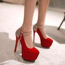 Women'sexy Fashion Dress Wedding Party Platform Stilettos High-heels Shoes 35-40