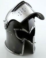 """Medieval Barbute Helmet Armour Helmet Roman knight helmets with Inner Liner"