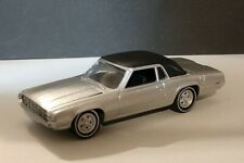 68 Ford Thunderbird Vinyl Hardtop Limited Edition Adult Collectible 1/64 Silver