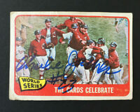Charlie James Signed 1965 Topps Baseball Card #139 Cardinals WS Auto Autograph 2