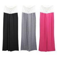 Maternity Casual Yoga Pants Women Pregnant Modal Soft Wide Leg Trousers New