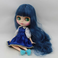 """Takara 12"""" Neo Blythe Blue Hair Joint Body Nude Doll from Factory TBY133"""