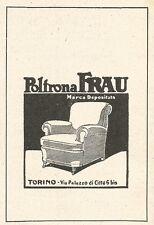 Z2458 Poltrona FRAU - Torino - Pubblicità del 1929 - Vintage advertising