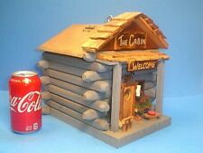 THE CABIN~REAL BIRDHOUSE WITH HINGED ROOF FOR CLEANING