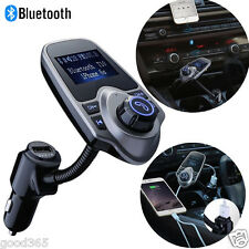FM Transmitter Bluetooth Car Kit MP3 USB Charger Handsfree for iPhone Samsung UK