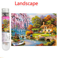150 Piece Mini Puzzles Tube Landscape Riverside Cabin Series Toys Kids GIft Game