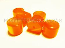 Accordion BUTTONS PISTONS Orange Harmonika Knöpfe 13.8x11.5 (mm) SET OF 6