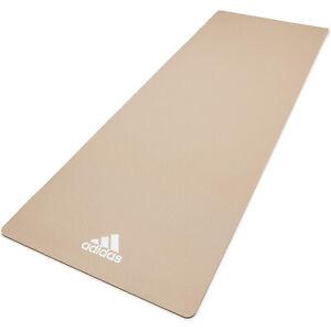 Adidas Universal Exercise Slip Resistant Fitness Yoga Mat, 8mm, Vapor Grey