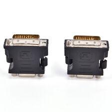 Black DVI TO VGA Adaptor DVI-A / DVI-I SVGA HD15 Analog Monitor Converter