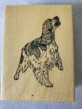 English Springer Spaniel Dog Wood/ Rubber by Stamp Gallery