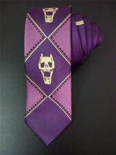 Hot JoJo's Bizarre Adventure KILLER QUEEN Kira Yoshikage Skull Purple Tie Cool
