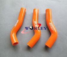 Silicone radiator hose for KTM 250 SXF SX-F XC-F 2007-2009 2008 07 08 09 orange